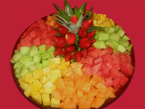 Fruit Tray Cubed