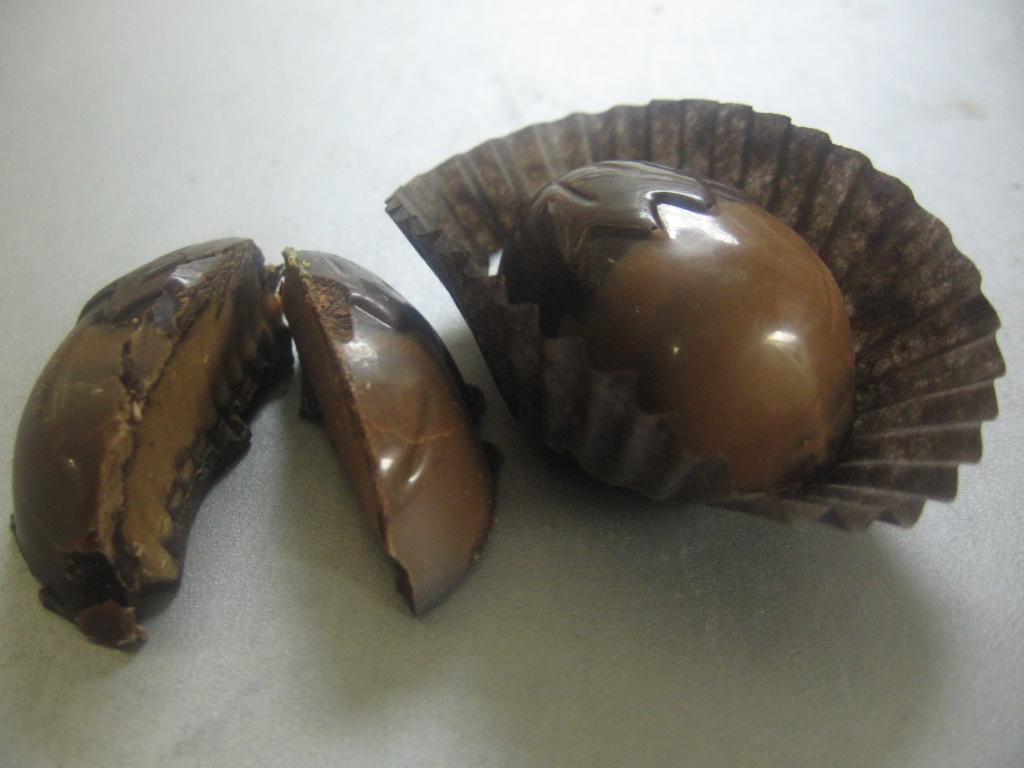 Dark Chocolate Filled with Hazelnut Nougat Cream