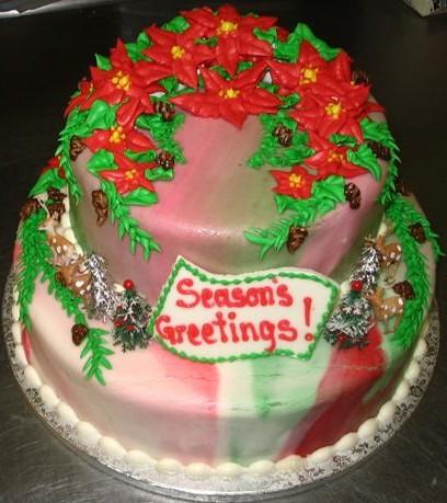 Season's Greetings 2 Tier Cake