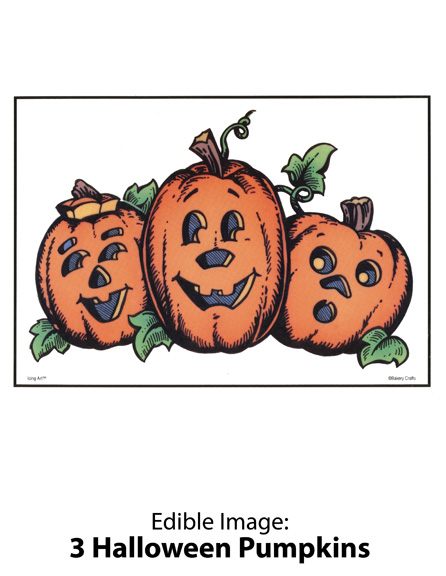 Bakery Crafts Image: 3 Halloween Pumpkins