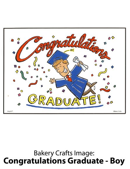 Bakery Crafts Image: Congratulations Graduate – Boy