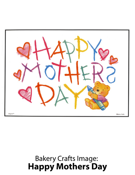 Bakery Crafts Image: Happy Mothers Day