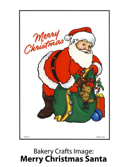 Bakery Crafts Image: Feliz Navidad Santa