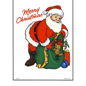 Bakery Crafts Image: Merry Christmas Santa