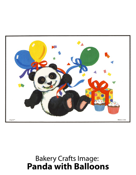 Bakery Crafts Image: Panda with Balloons
