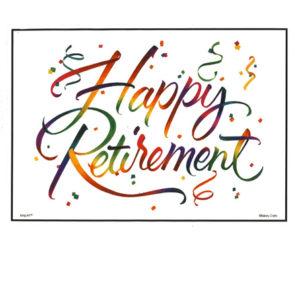 Bakery Crafts Image: Rainbow Happy Retirement