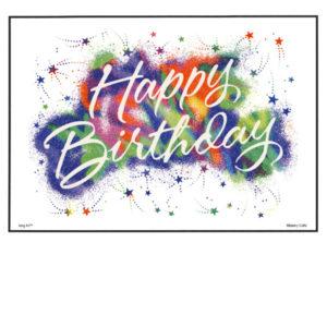 Bakery Crafts Image: Rainbow Stars Happy Birthday