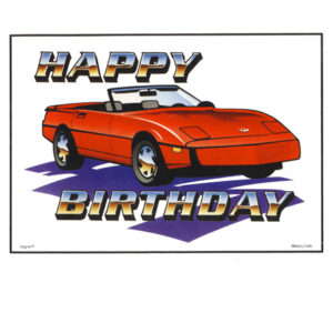 Bakery Crafts Image: Red Sports Car