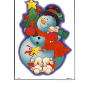 Bakery Crafts Image: Snowman with friends