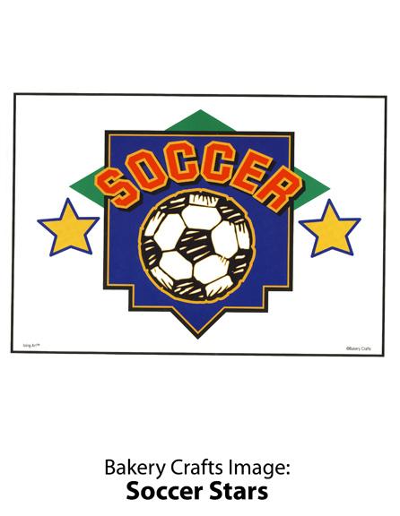 Bakery Crafts Image: Soccer Stars