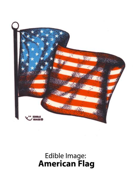 Edible Image: American Flag