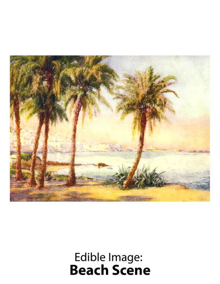 Edible Image ® by Lucks: Beach Scene