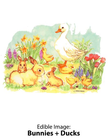 Edible Image ® by Lucks: Bunnies + Ducks