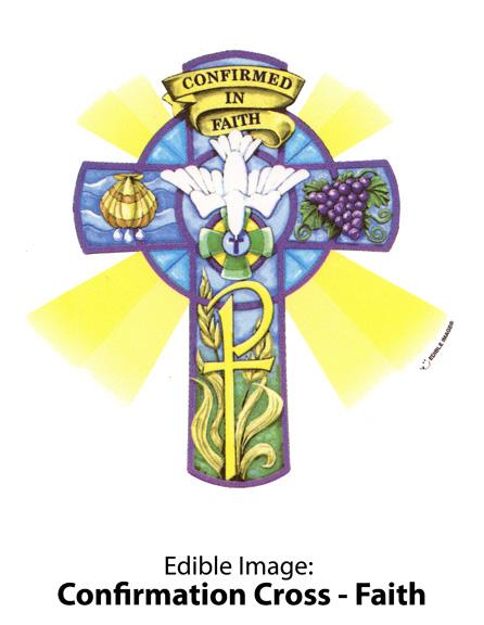 Edible Image ® by Lucks: Confirmation Cross – Faith