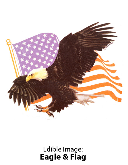 Edible Image ® by Lucks: Eagle & Flag