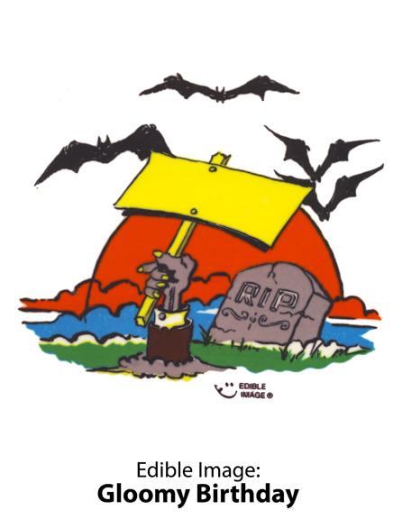 Edible Image ® by Lucks: Gloomy Birthday