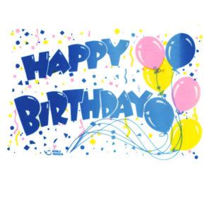 Edible Image ® by Lucks: Happy Birthday Balloons