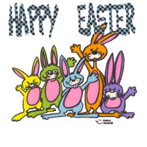 Edible Image ® by Lucks: Happy Easter Funny Bunnies