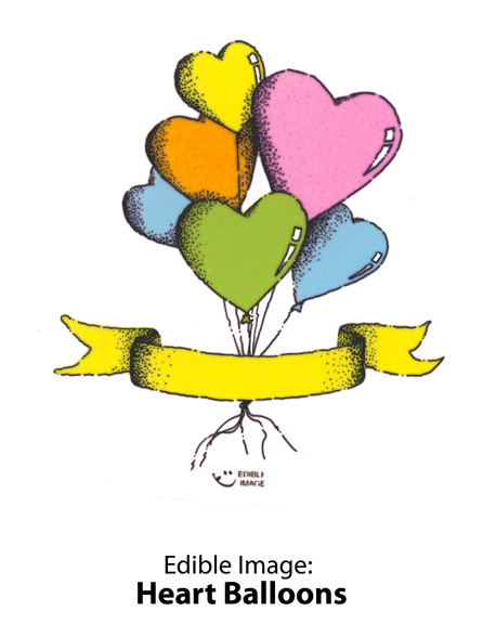 Edible Image ® by Lucks: Heart Balloons
