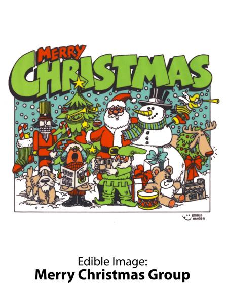 Edible Image ® by Lucks: Merry Christmas Group
