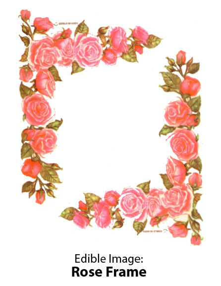 Edible Image ® by Lucks: Rose Frame
