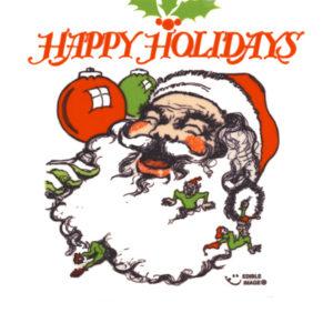 Edible Image ® by Lucks: Santa Happy Holidays