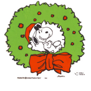 Edible Image ® by Lucks: Snoopy XMAS Wreath