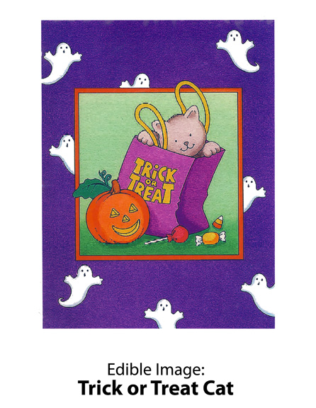 Edible Image ® by Lucks: Trick or Treat Cat