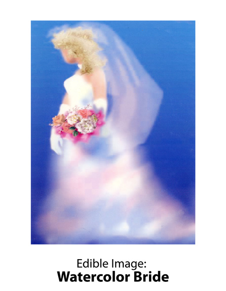 Edible Image ® by Lucks: Watercolor Bride