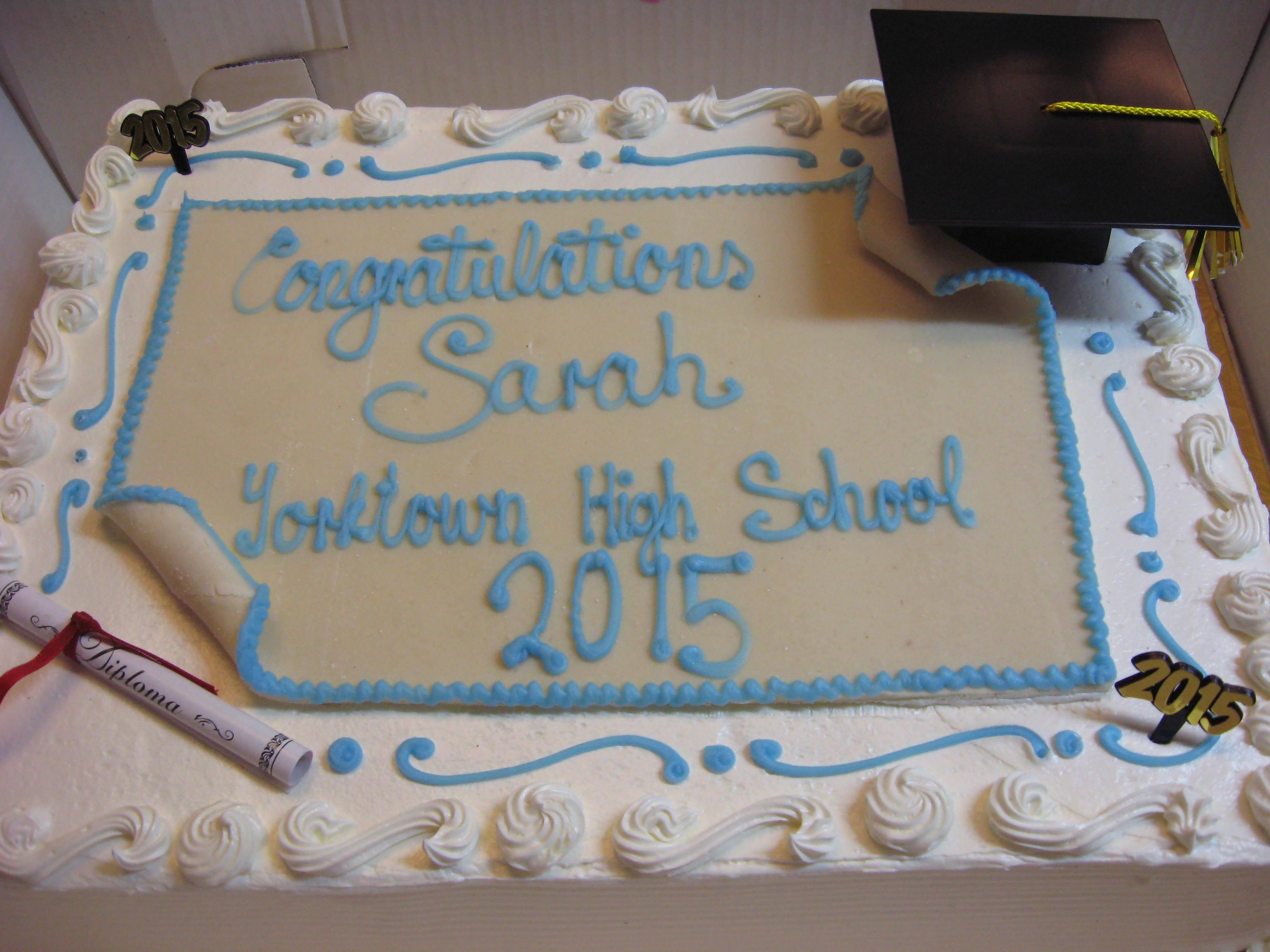 *Graduation Diploma Cake