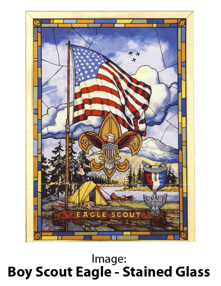 Image: Boy Scout Eagle Stained Glass