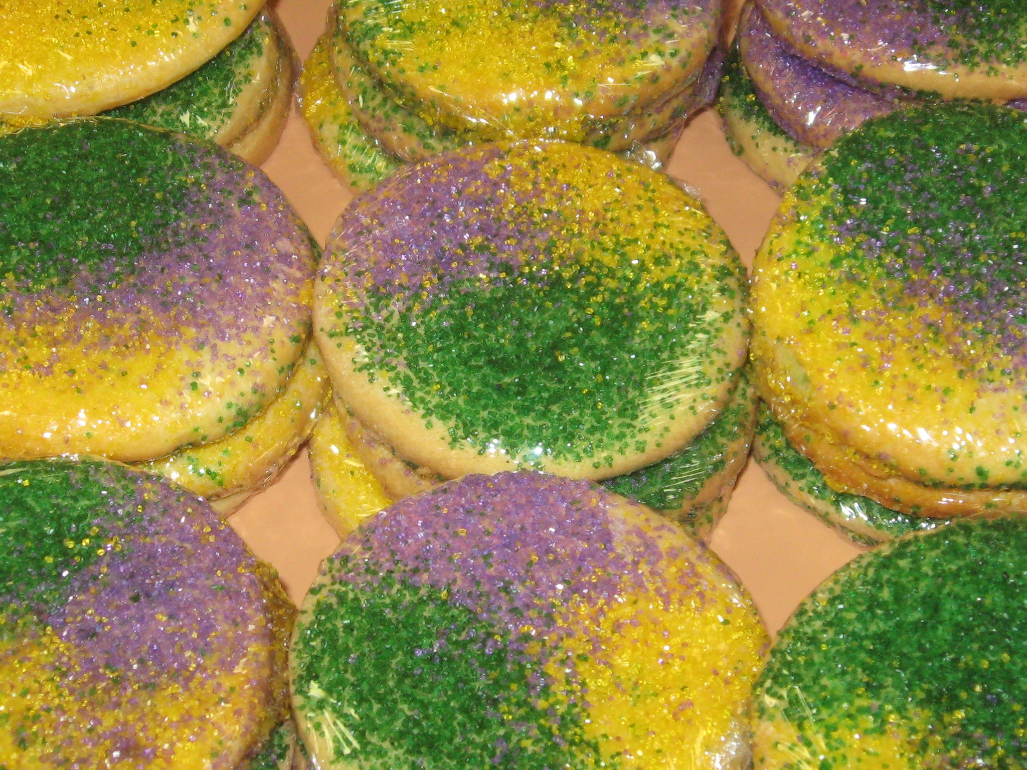 Mardi Gras Large Cookie
