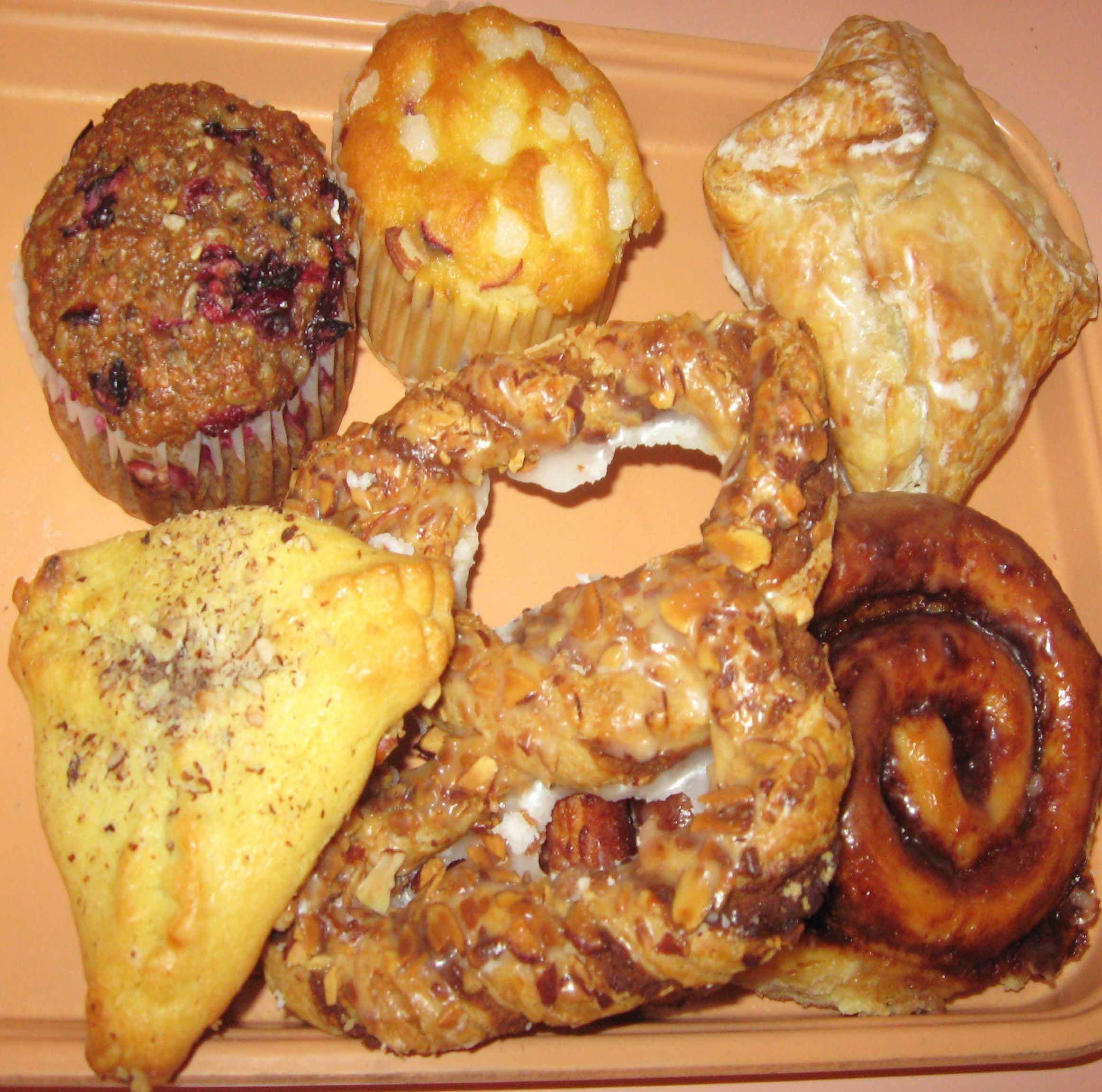 Assortment of breakfast Pastries