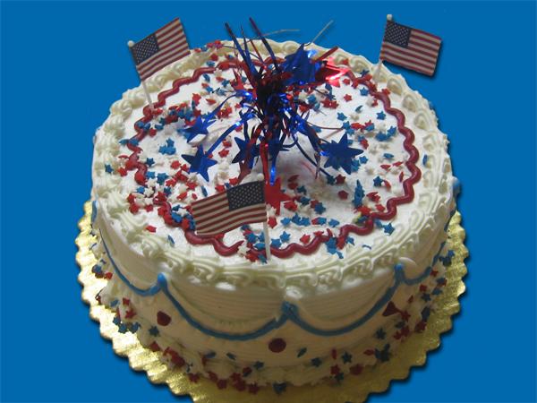 Patriotic Theme – Cake with USA decoration