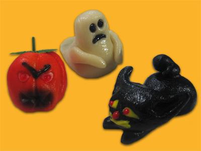 Halloween Marzipan Figures