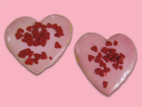 Large iced Heart Cookies