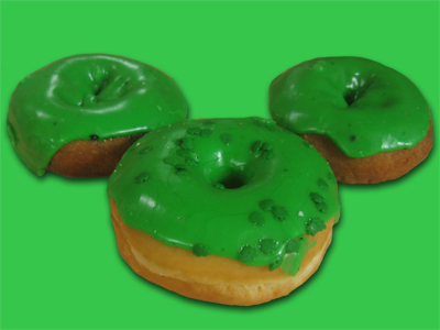 Green Iced Donuts