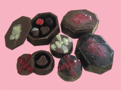 Chocolate boxes filled with Chocolate truffles