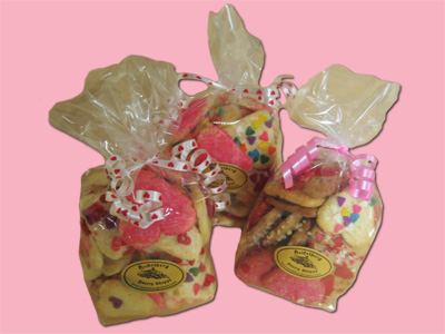 Cookies, bagged, Heart shaped