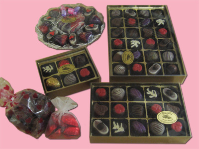 Chocolate Boxes and Bags, assorted