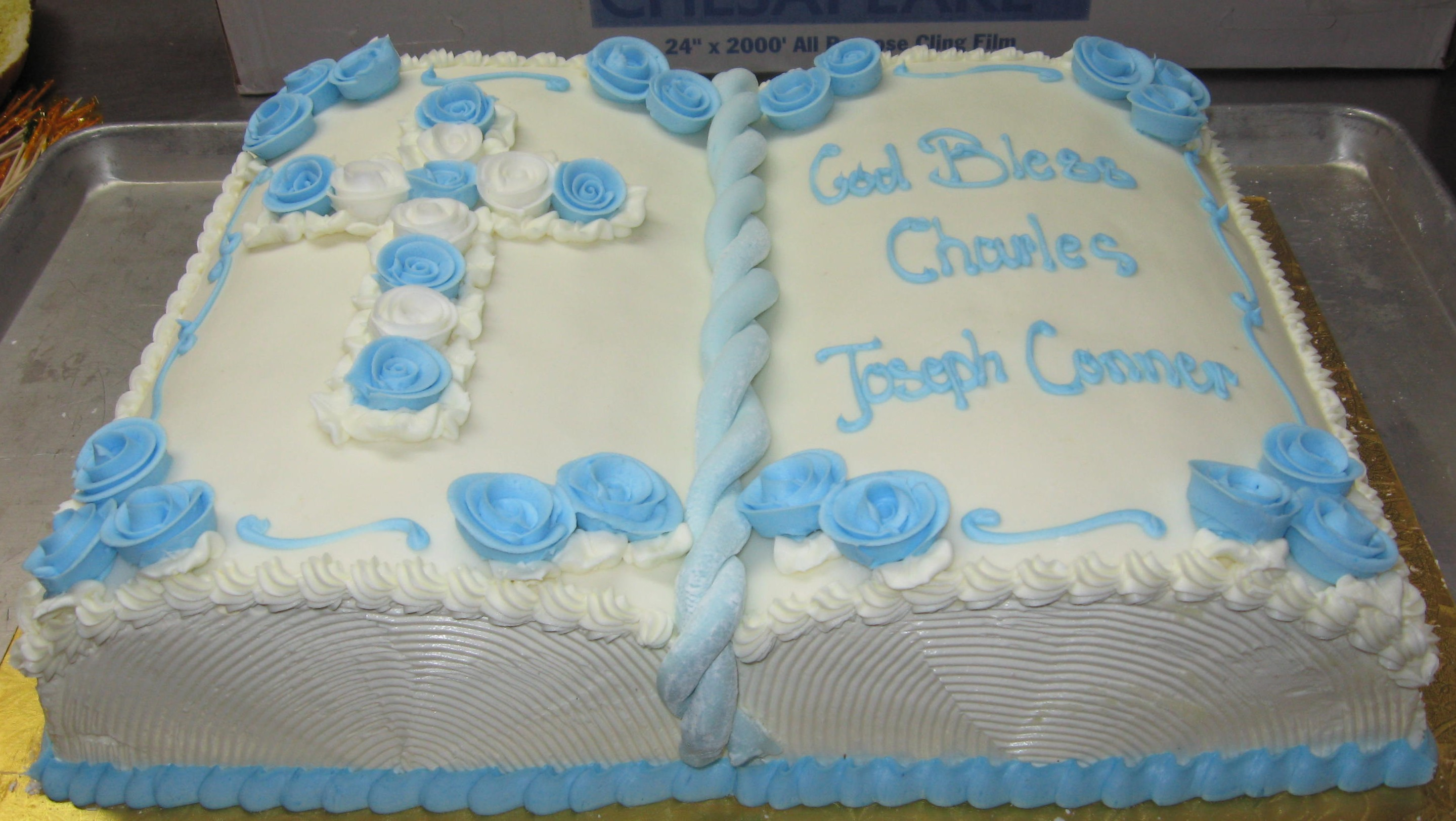 * Book Cake Christening – First Communion & Confirmation