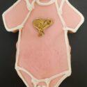 Baby Onesie Cookies – 6 Cookies